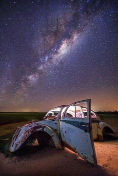 A VW Beetle and the Milky Way