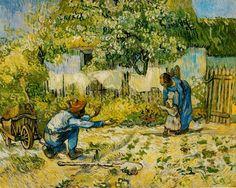 First Steps (after Millet) - Vincent van Gogh