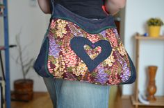 ELEANORka middle no. 12 Patchwork handmade handbag called Heart inside Heart for everyones lovers colors flowers  price: 30 €
