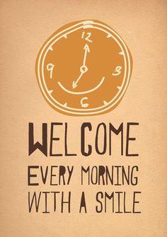 Good evenings bring happy mornings   : )