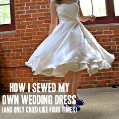 """How I Sewed My Own Wedding Dress: """"Once I fully committed to the risk I was taking (""""What will you wear if it doesn't work?"""" """"Something, I guess.""""), the risk became fun; it became okay to experiment, because if I messed up, so what? The worst thing was that I'd have to start over, and I'd already done that."""""""
