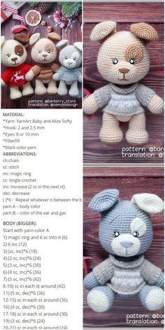 Amigurumi Crochet parcheado pequeño perro (patrón libre) - Crochet.msa.plus - #Amigurumi #Crochet #Crochetmsaplus #libre #parcheado #Patrón #pequeño #perro