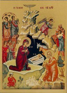 Osterkerzen - Kelche - Altarleuchter - Kirchenausstattung - Ikone - Christi Geburt - 159101