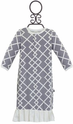 Sweet Bamboo Unique Gown for Baby Girls in Gray Baby Up, Baby Girls, Baby Girl Boutique, Modern Prints, Future Baby, Little Babies, Warm And Cozy, Bamboo, Gowns