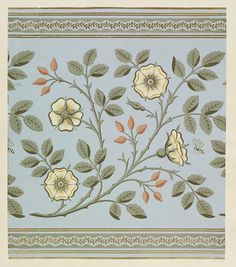 Wallpaper frieze, designed by Walter Crane R. Walter Crane, Textiles, Textile Patterns, Arabesque, Cushion Embroidery, Medieval Tapestry, Lines Wallpaper, Drawing Studies, Floral Drawing