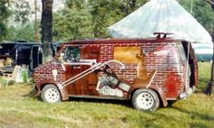 Double the fun*** Custom Paint Jobs, Custom Vans, Chevy Vans, Vans Classic, Hippy, Campers, Old School, Wheels, Boxes