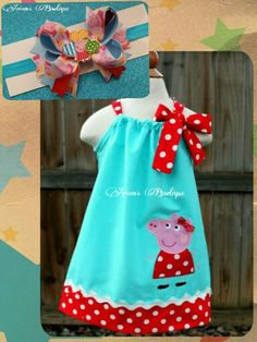 Peppa pig dress and headband