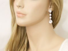 Teardrop Chandelier Dangle Earrings. Kate Middletown Inspired, Classic Design, Diamond Look, Bridal and Bride Earrings Jewelry on Etsy, $91.33 AUD