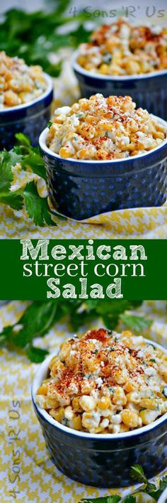 Frugal Food Items - How To Prepare Dinner And Luxuriate In Delightful Meals Without Having Shelling Out A Fortune A Beautiful Blend Of Sweet And Spicy, This Mexican Street Corn Salad Is Made Off Of The Cob And Finished Off With A Dash Of Smoky, To Make It Mexican Food Recipes, New Recipes, Vegetarian Recipes, Cooking Recipes, Recipies, Easy Recipes, Recipe For Mexican Dishes, Mexican Appetizers Easy, Bulgur Recipes