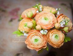 """Купить композиция """"Ранункулюсы"""" - ранункулюс, букет, ландыши, интерьерная композиция, цветы ручной работы"""