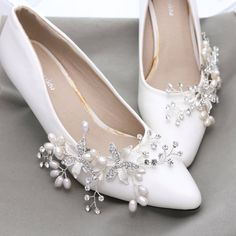 Bridal Shoe Clips Rhinestone Shoe Clips Pearl Shoe by sweetygarden fae7c825d038