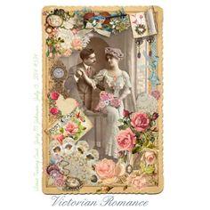 """Victorian Romance ATC"" by judymjohnson on Polyvore"