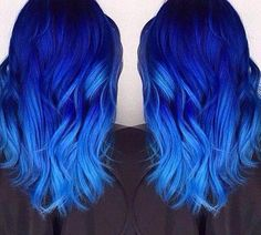 Are you looking for dark blue hair color for ombre and teal? See our collection full of dark blue hair color for ombre and teal and get inspired! Dark Blue Hair, Hair Color Purple, Hair Dye Colors, Cool Hair Color, Hair Color For Black Hair, Bright Blue Hair, Colorful Hair, Pastel Blue, Black Blue Ombre Hair