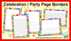 Party/celebration printables to download for the Foundation Phase - Early Years -  KS1 - kindergarten Color Activities, Teaching Activities, Craft Activities, Teaching Resources, Teaching Ideas, New Years Hat, Crafts For Kids, Arts And Crafts, Display Banners