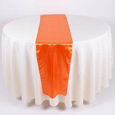 Wedding Supplies - Orange - Satin Table Runners