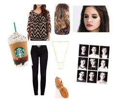 """""""Starbucks lovers"""" by longboards-and-volleyball ❤ liked on Polyvore featuring Alyx, Frame Denim and Gorjana"""