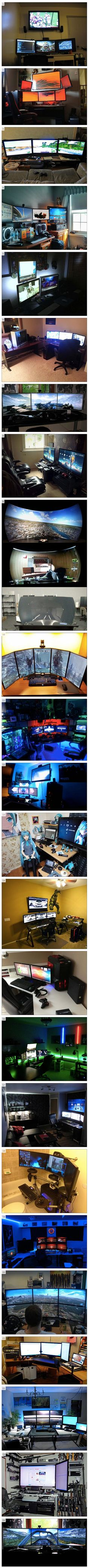 We've rounded up some cool and unusual computer setups that geeks would love.