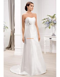 Délka dvorní Satén Zip Svatební šaty 2014