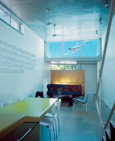 Talk about fascinating home decor - this wall swimming pool definitely qualifies!