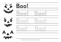 Boo! Handwriting Worksheet
