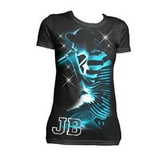 Amazon.com: Justin Bieber - Live Sparkle Youth T-Shirt In Black: Clothing