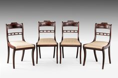 Set of Four Regency Period Mahogany Single Chairs (Ref No. 7123) - Windsor House Antiques