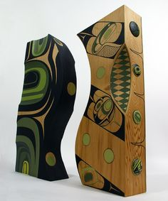 Rod Smith and Steve Smith Painted Red Cedar Sculpture: Love is All Around Us/Being A Part of Creation