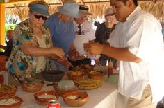 Mexican Cooking Class in Acapulco Discover Mexican cuisine at a cooking demonstration followed by lunch. Stop at the market to buy the ingredients to cook thefamous Mexican fajitas. The chef will offer a step-by-step demonstration and will share the recipe with you. After lunch you will have some free time to enjoy at the beach before going back to your hotel or port.After picking you up from your hotel or the ship terminal, you will head to the market to buy the ingredients...
