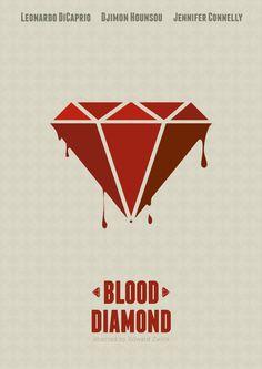 Blood Diamond (2006) ~ Minimal Movie Poster by Mads Svanegaard #amusementphile