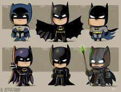 Batman This Artist Adorably Illustrates How Iconic Characters Have Changed Over Time Batman Cartoon, Le Joker Batman, Batman Art, Batman Robin, Gotham Batman, Comic Kunst, Comic Art, Logo Super Heros, Art Adventure Time