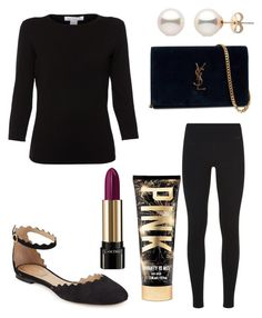 """Untitled #9532"" by ohnadine on Polyvore featuring Belford, Victoria's Secret, Chloé, Lancôme, Yves Saint Laurent and NIKE"