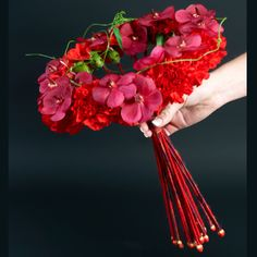 red circle bouquet