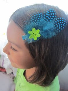 Feather DIY hair clip kids