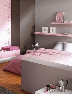 Dormitorios: Fotos de dormitorios Imágenes de habitaciones y recámaras, Diseño y Decoración: Dormitorio recamara para mujeres en colores gris y rosado
