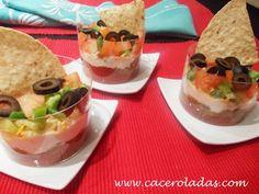 Recetas de aperitivos. 12 ideas son las que comparte en este post la autora del blog Caceroladas.