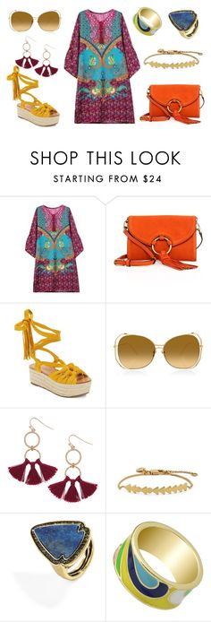 091. Summer Boho capsule for Pure Spring. Day 7 by sollis on Polyvore featuring мода, Sigerson Morrison, Tory Burch, BaubleBar, Humble Chic, Madewell and Linda Farrow