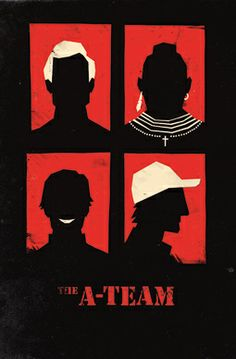 The A-Team inspired poster by Olly Moss, love the simple graphics and colours