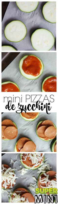You don't know what to make of your huge zucchini here's an easy recipe. Pide to do and health. Here are my delicious mini pizzas out of zucchini! Mini Pizzas, Easy Healthy Recipes, Vegetarian Recipes, Easy Meals, Cini Minis, Zucchini, Pizza Style, Prepped Lunches, Meal Prep