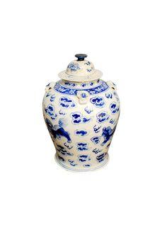 19th Century Blue & White Ginger Jar