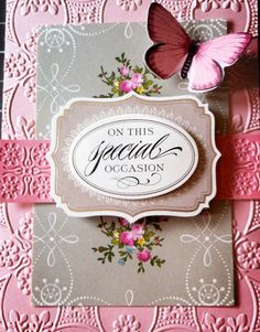 Made using Anna Griffin Floral Impressions Card Kit and here embossing folders! #annagriffininc
