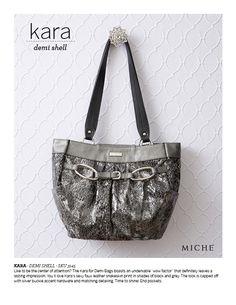 Miche's Kara Demi Shell...shimmery, silver, faux snakeskin...chelle.miche.com