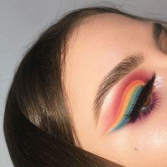The Best Pride Makeup 2018 - Blush Magazine Makeup Inspo, Beauty Makeup, Eye Makeup, Hair Makeup, Neon Eyeshadow, Colorful Eyeshadow, Lgbt, Kawaii Makeup, Makeup 2018