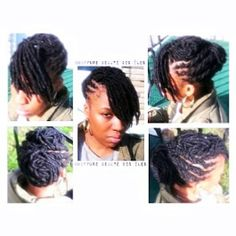 Locs extensions roots maintenance and hairstyle