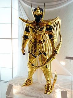 """Saint Seiya's """"Libra's Gold Cloth"""" reconstructed in Life Size ..."""