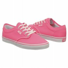 c5b908060d Athletics Vans Women s Atwood Lo Neon Pink White FamousFootwear.com White  Shoes