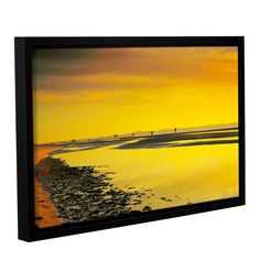 Mellow Yellow Morning by Steve Ainsworth Floater Framed Photographic Print on Gallery Wrapped Canvas