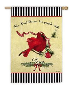 Garden Sized Flag Christmas Cardinal by House-Impressions. $5.99. Great for yourself or as a gift!. Easy to use and simple to hang flags. Soft, high-quality nylon fabric. Decorative flags are a great home and garden decoration for every season and reason!  The unique production process that goes into our flags is your guarantee that your flag will retain shape, fabric durability and vivid color through any weather condition & for many years to come!. Save 62%!