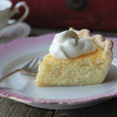 Coconut Custard Pie @keyingredient #pie