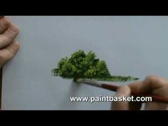 ▶ Painting lessons - How to paint trees and bushes in oil painting - YouTube
