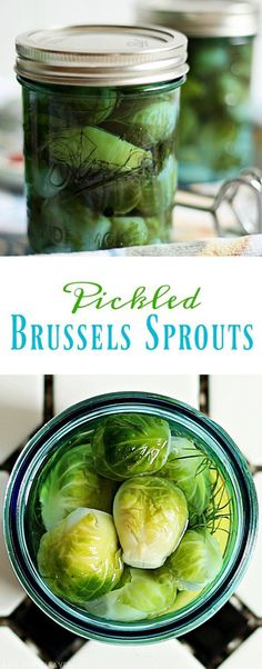 Pickled Brussels Sprouts Recipe I know, I know. Many people don't like Brussels sprouts, but they are great for pickling and canning. Honest. Or you can use cucumbers and just make homemade pickles.